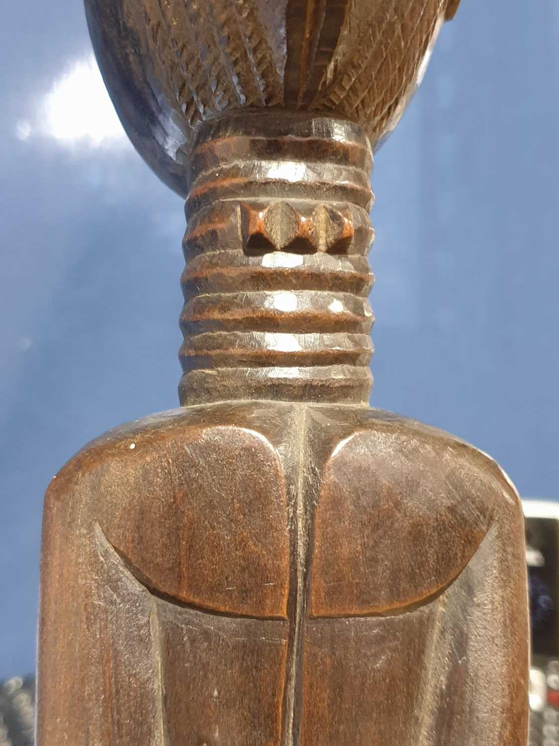A Baule standing male figure, Blolo Bian, Ivory Coast, the coiffure with linear decoration, the face - Image 15 of 15