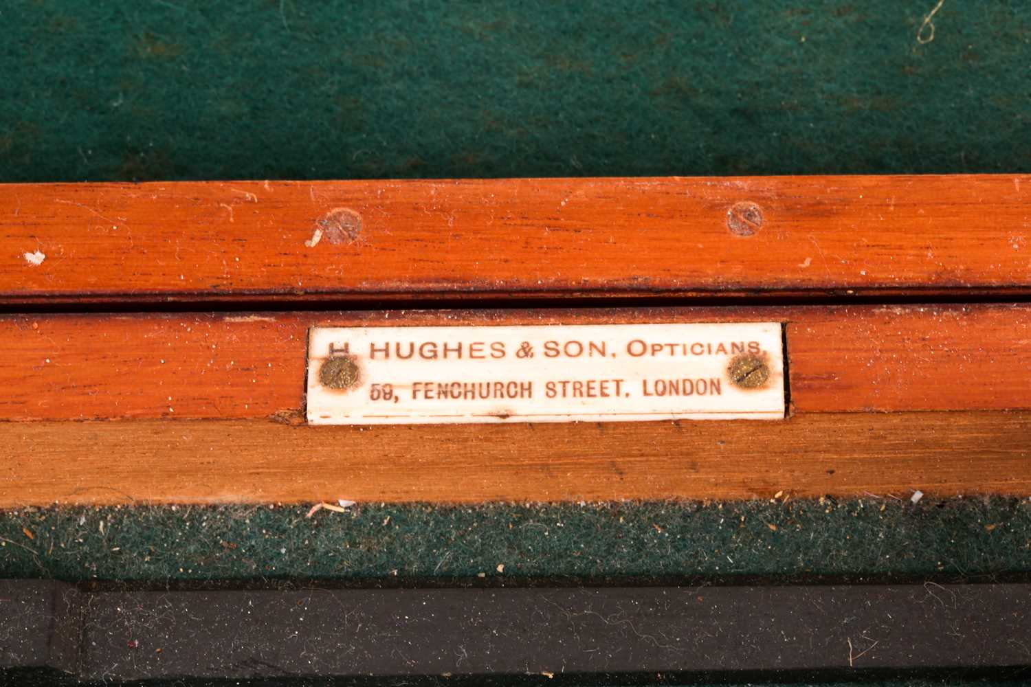 A H Hughes & Son naval station pointer No694, with silvered and brass dial, struck H Hughes & Son, - Image 3 of 4