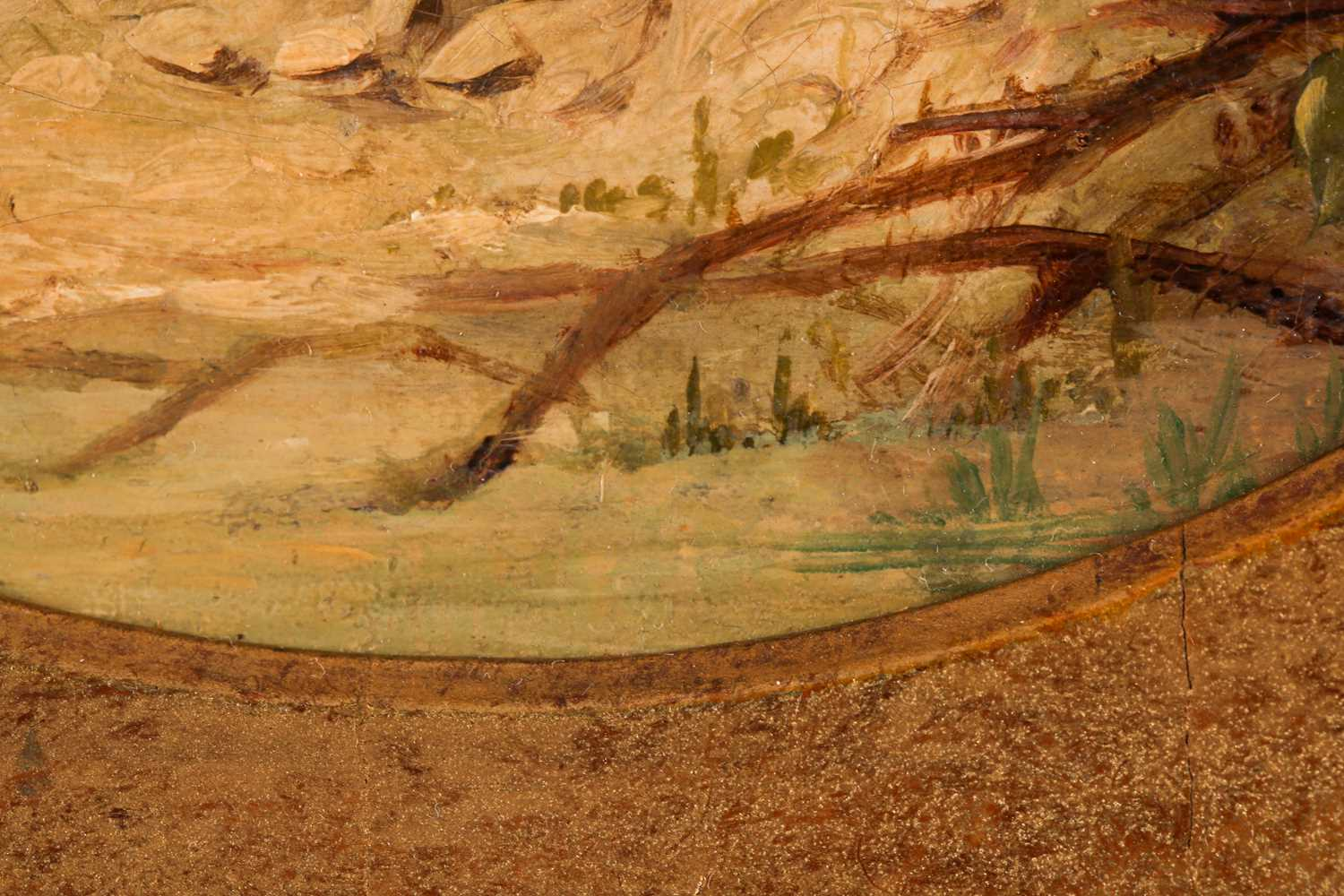 Circle of George Armfield (1808-1893), Terrier in a landscape, oil on canvas, 20.5 cm x 20.5 cm, - Image 4 of 6