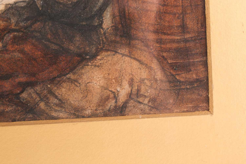 Louis Haghe HPRI (1806-1885) Belgian, 'The Suspects', a large pen & watercolour, 58 cm x 81 cm, - Image 4 of 9