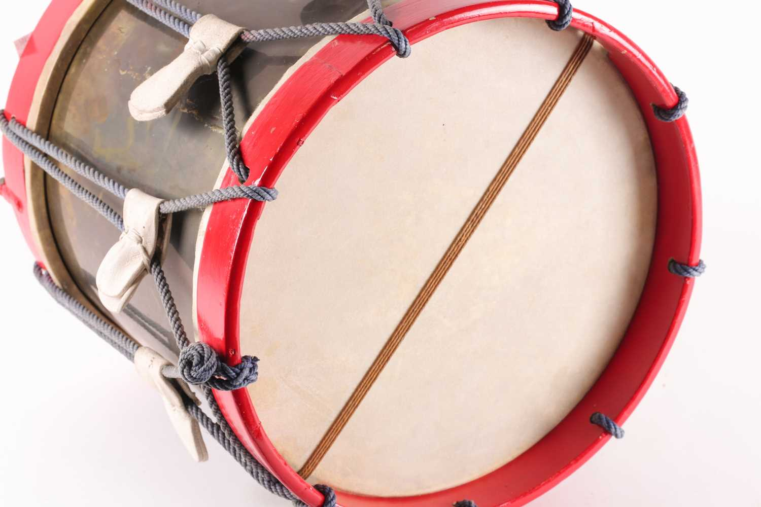 A 20th century regimental (Queen's own regiment of foot?) side drum by Peter Henderson ltd of - Image 3 of 5