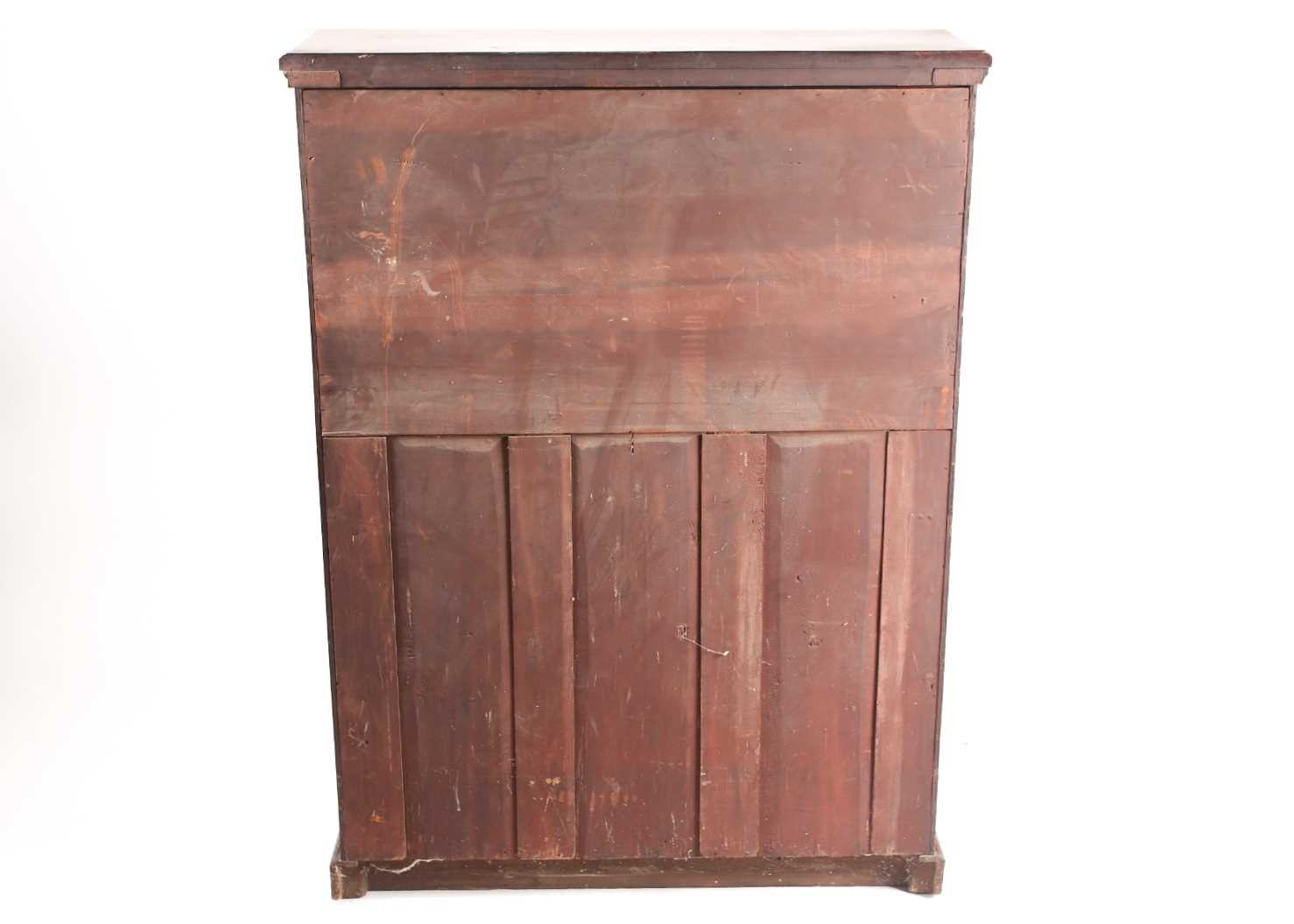 A late 19th-century Aesthetic design walnut fall front secretaire with fitted and leathered - Image 2 of 6