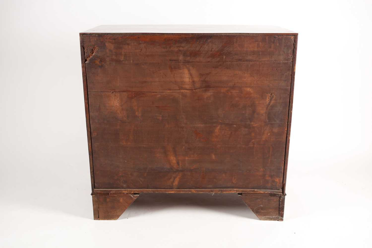 A reconfigured 19th-century mahogany caddy topped bowfront chest of three long drawers. Supported on - Image 2 of 5