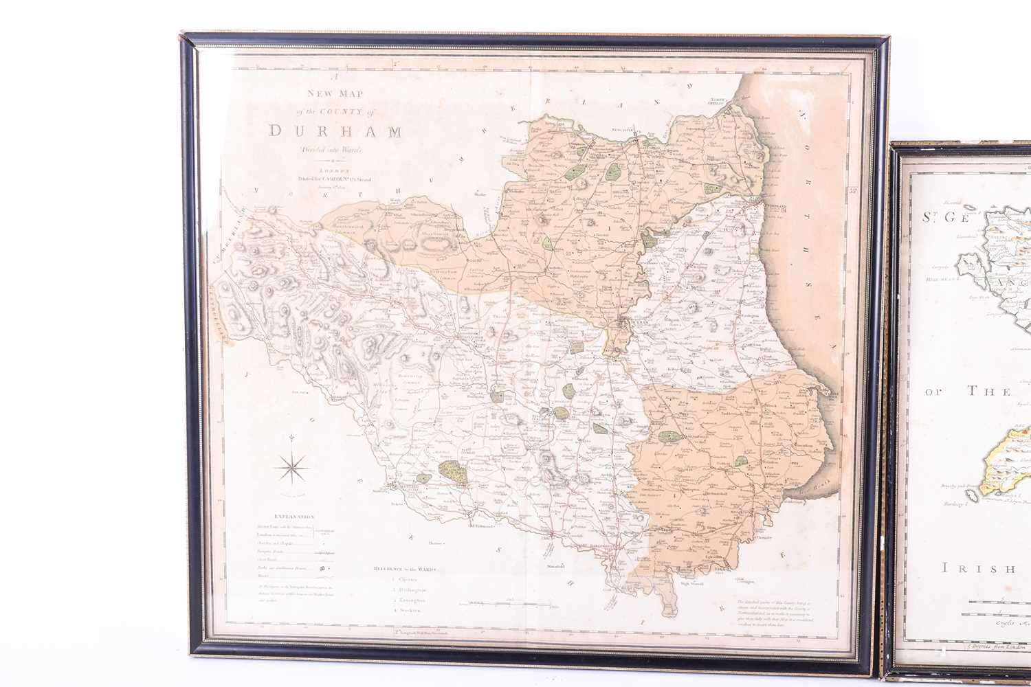 A Robert Morden map of North Wales , hand tinted, 37 x 43cm, together with an early 19th century map - Image 2 of 4