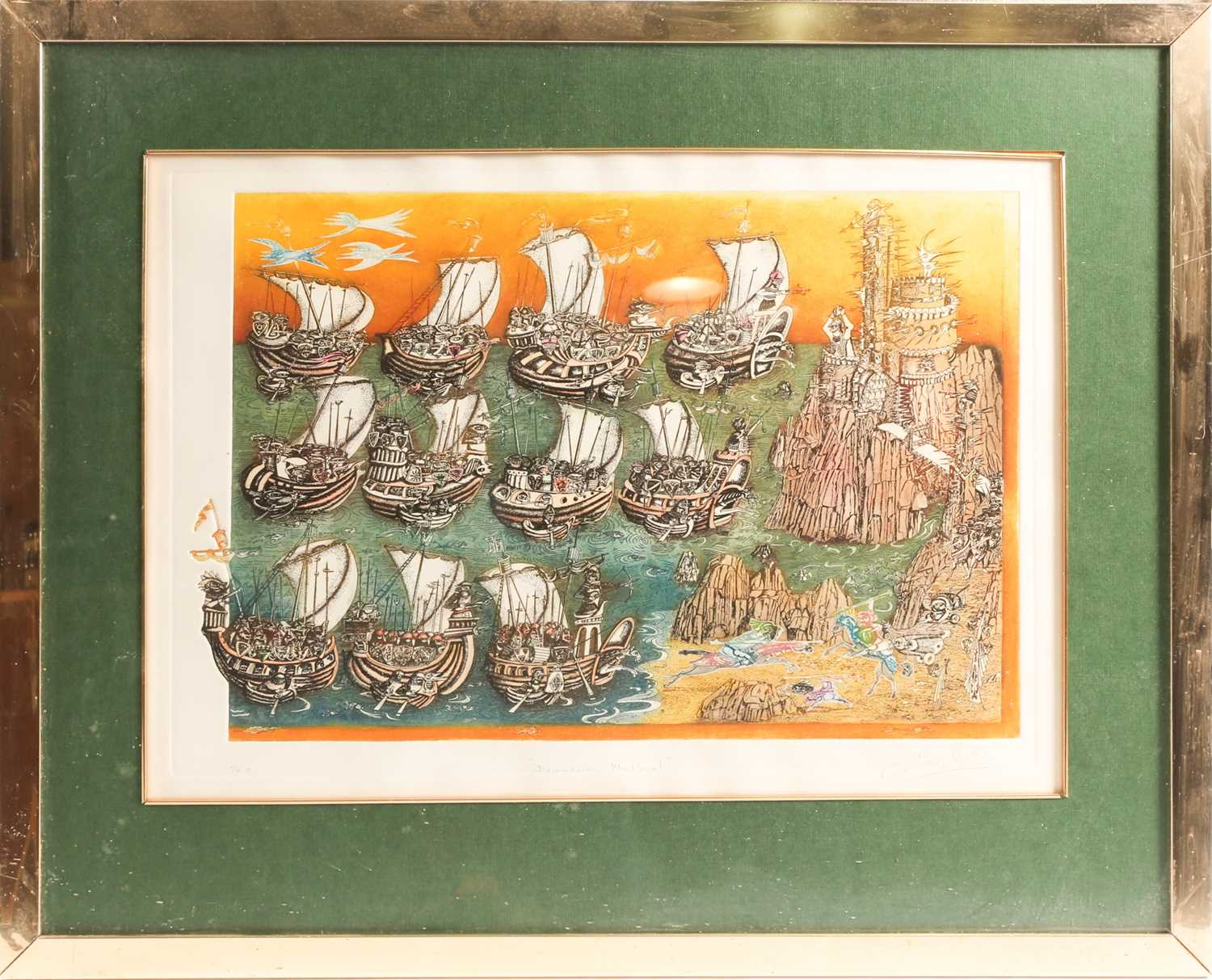 20th century Spanish school, two limited edition prints, 'El que a Hierro Mata a Hierro Muere' (37 - Image 5 of 10