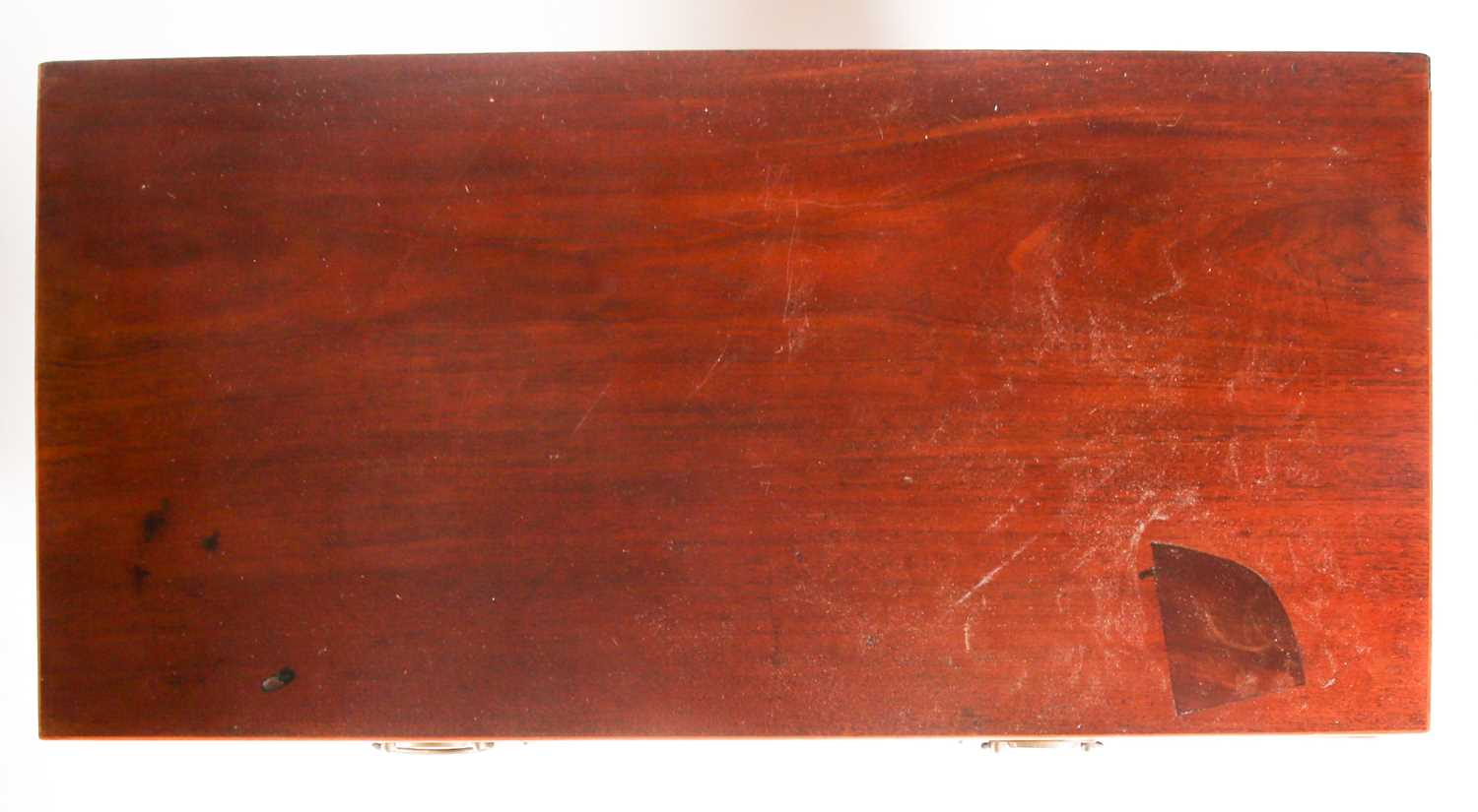 A George III satinwood strung mahogany caddy topped chest of two short over three long drawers. On - Image 4 of 5