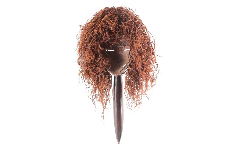 A Dan hornbill 'Kagle' mask, Liberia/Ivory Coast, the headdress of natural fibres, earth and - Image 2 of 3