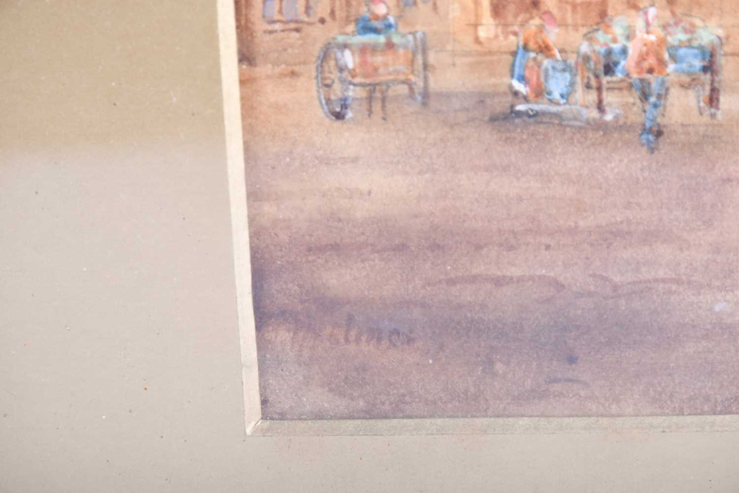Edward Nevil (British, fl: 1880 - 1900) 'Ypres' & 'Malines', signed, watercolour, a pair, 27 x 19cm - Image 6 of 7