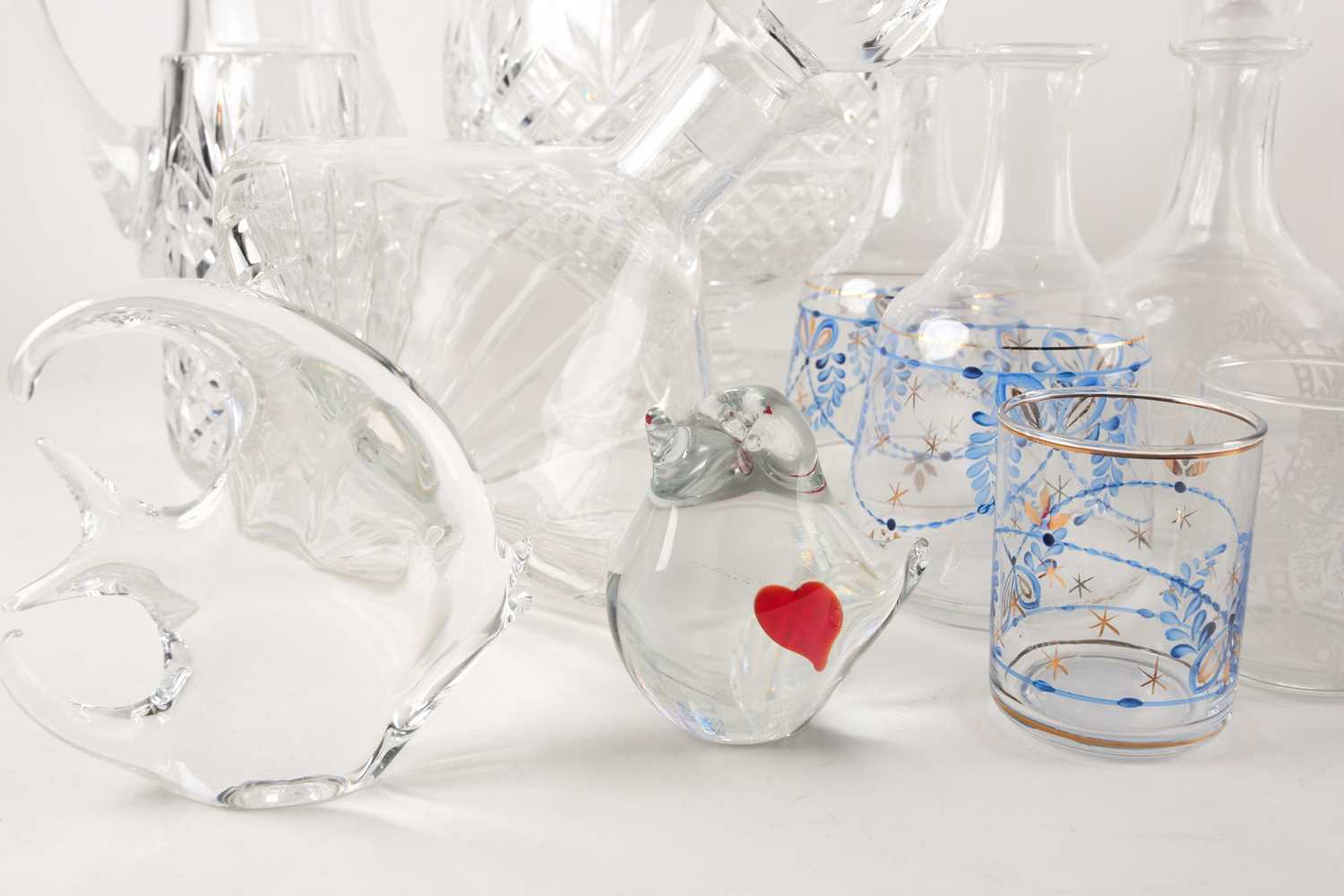A quantity of cut glass to include a pair of large pedestal bowls, a Waterford decanter, glass - Image 2 of 7