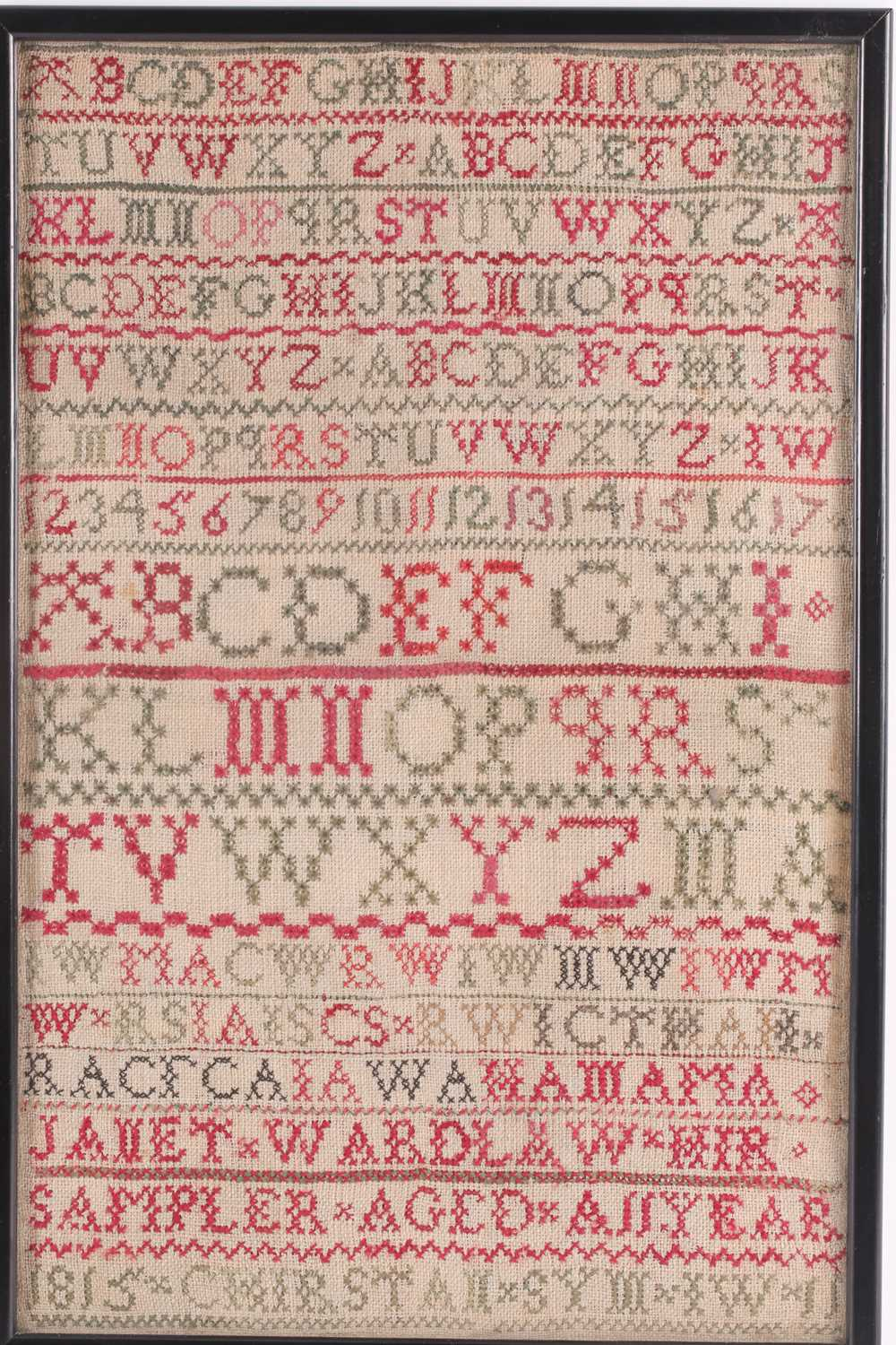 A William IV needlework sampler, with verse from John Newtons 'Olney Hymns ' We may like the ships - Image 6 of 6