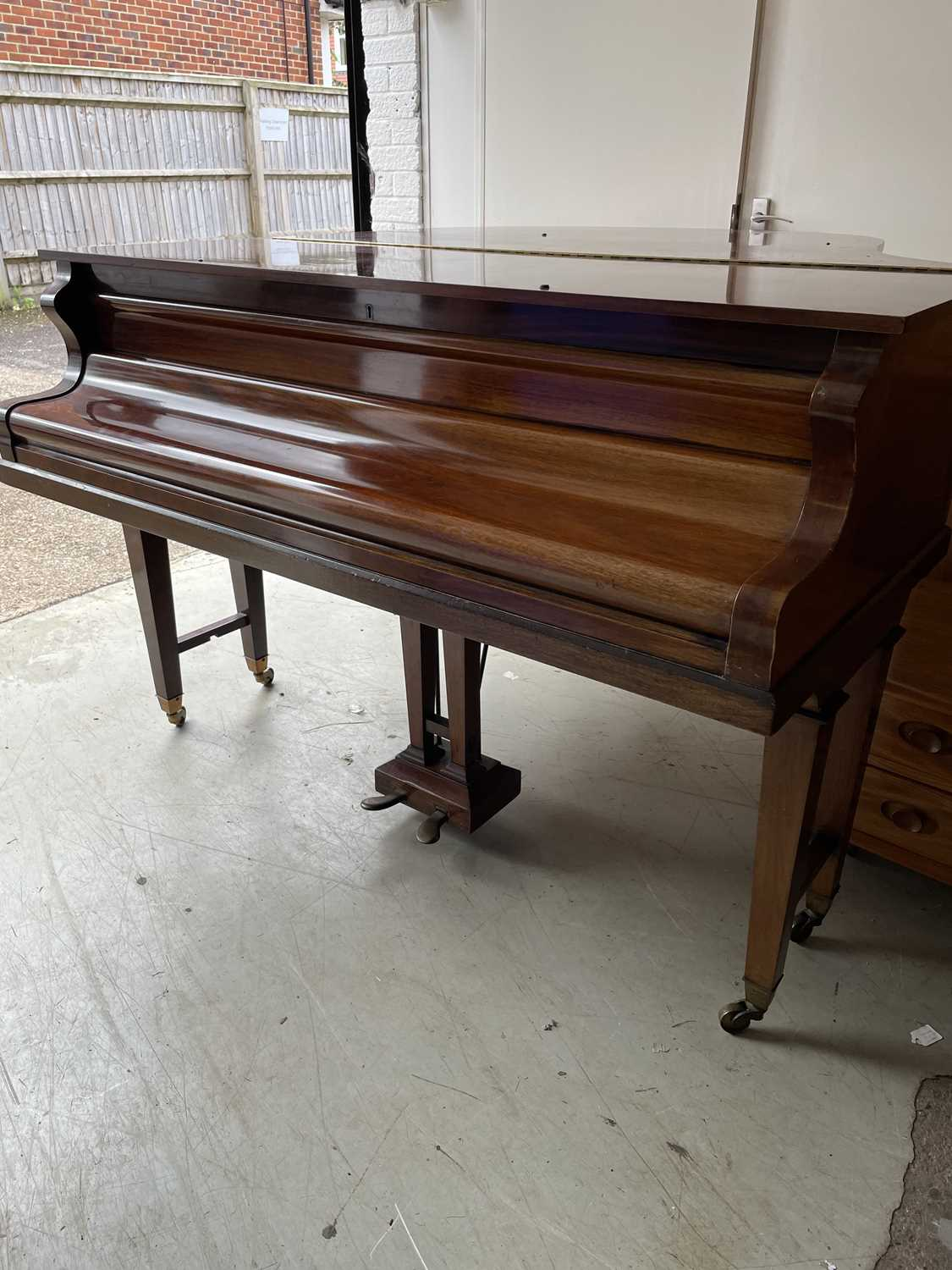 A mahogany cased baby grand piano, by John Strohmenger & Sons, London, 143 cm wide x 101 cm high x - Image 17 of 21