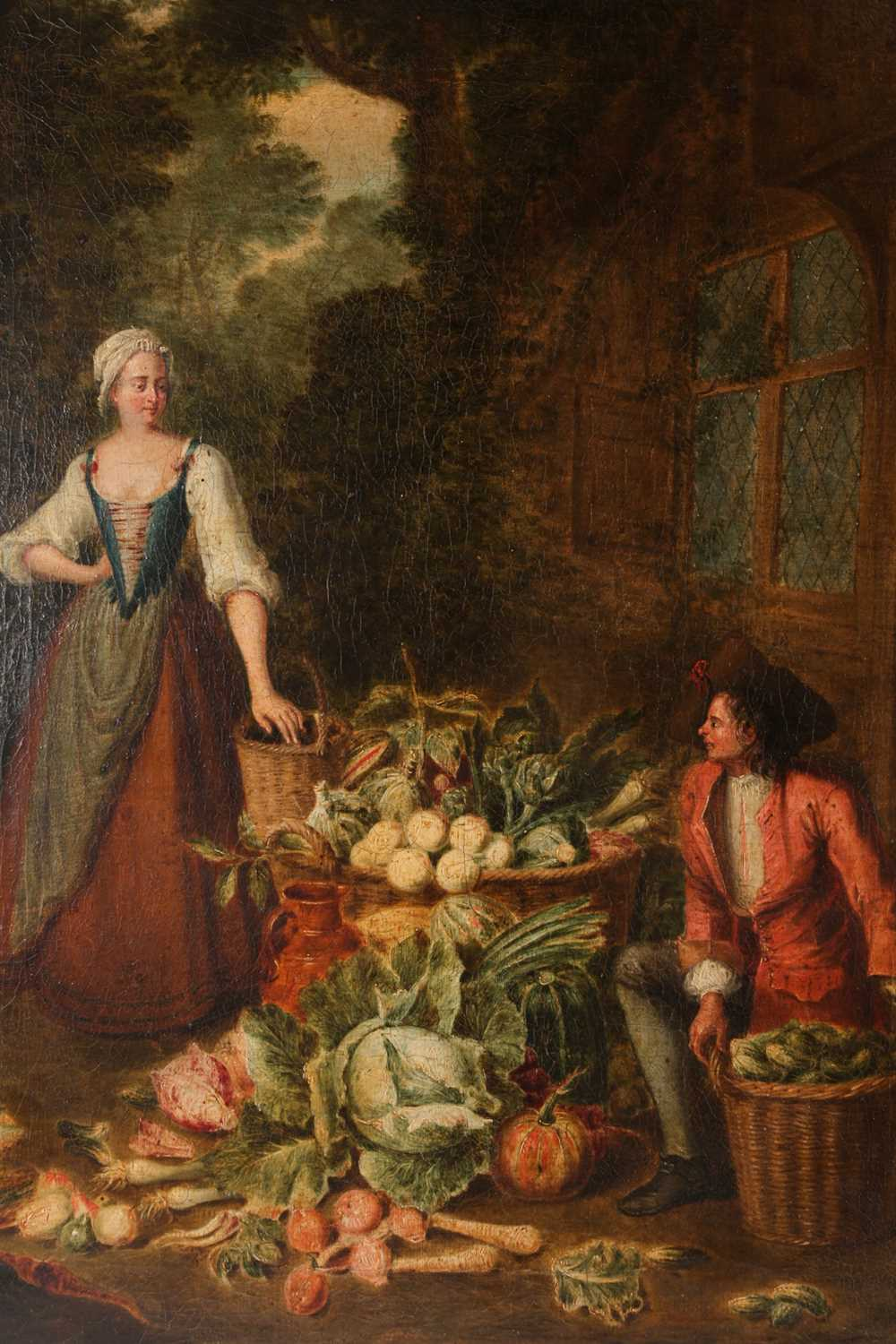 Attributed to Pieter Angellis (Angellus/Angilis) (1685 - 1734), a pair of genre scenes, a - Image 2 of 9