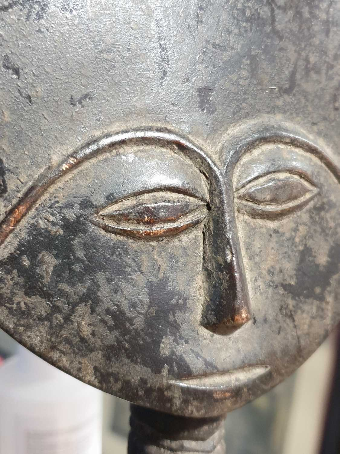 A Baule standing male figure, Blolo Bian, Ivory Coast, the coiffure with linear decoration, the face - Image 3 of 15