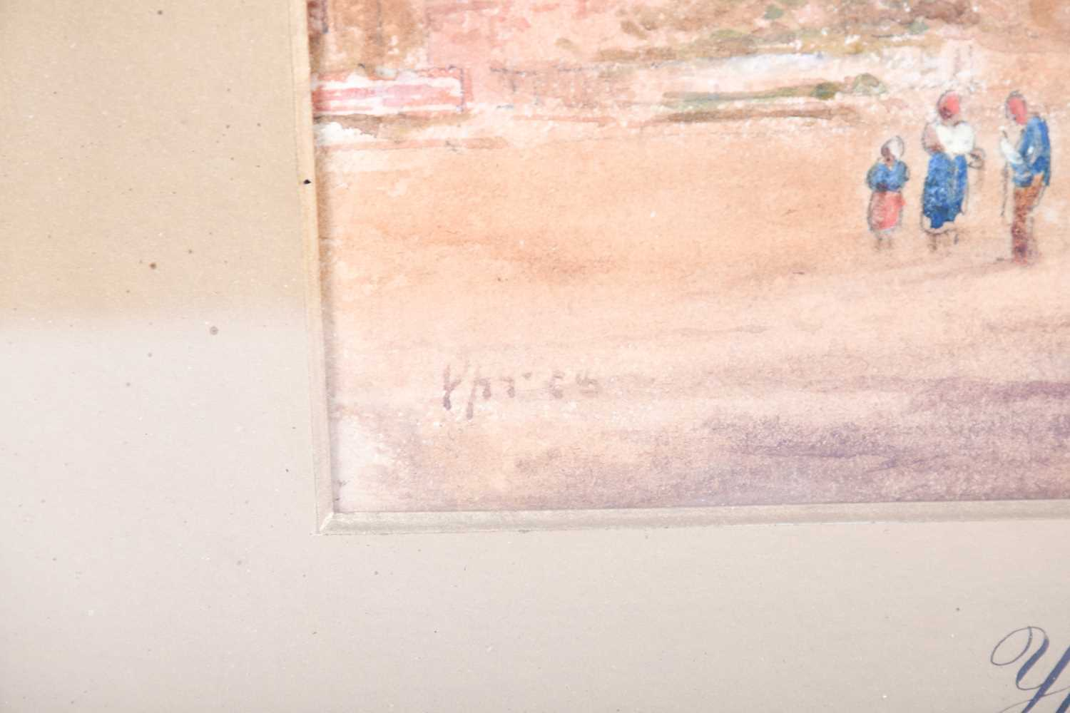 Edward Nevil (British, fl: 1880 - 1900) 'Ypres' & 'Malines', signed, watercolour, a pair, 27 x 19cm - Image 4 of 7