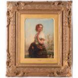 Josephine Wood Colby (1862-1930), 'Springtime', a three-quarter length portrait of a shepherdess,