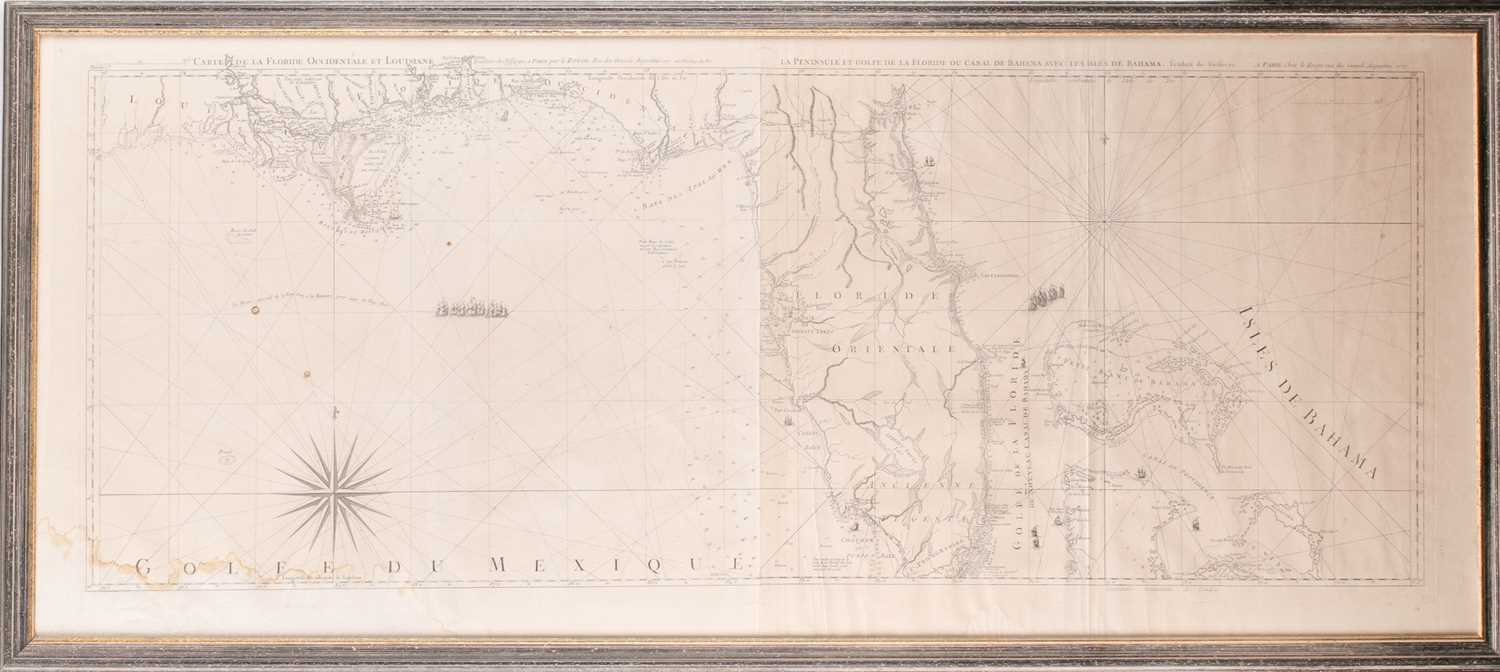 A framed French navigational circular map, 'Hemisphere Austral ou Antarctique', 18th century - Image 3 of 5
