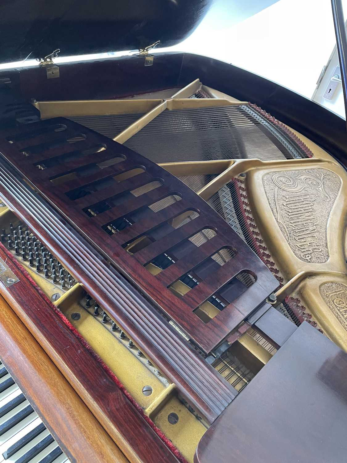A mahogany cased baby grand piano, by John Strohmenger & Sons, London, 143 cm wide x 101 cm high x - Image 11 of 21