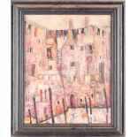 Julie Adlard (20th century), an abstract Venice townscape, oil on canvas, initialled to lower
