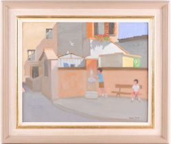 Andrew T Macara (b.1944), 'Tuscany, June', oil on canvas, signed to lower right corner, 39.5 cm x 48