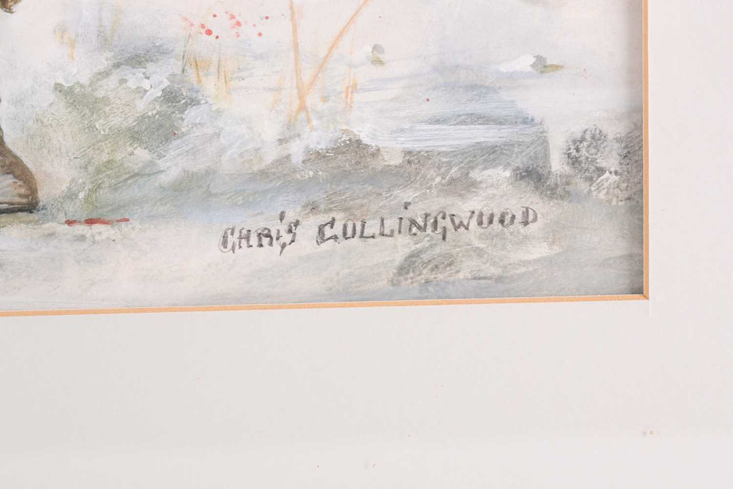 Chris Collingwood (20th century), 'Cover for Maelstrom', watercolour and bodycolour, signed to lower - Image 3 of 5