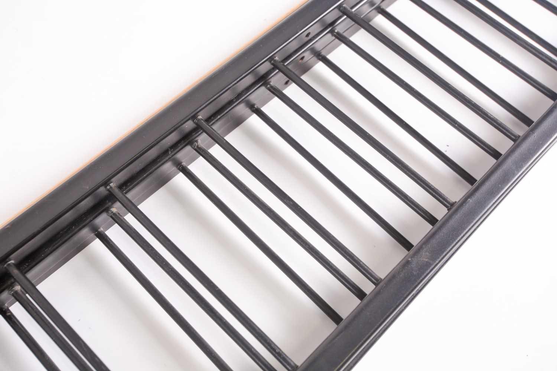 "A black-painted ""Ladderax"" adjustable shelving unit with teak effect shelves, 90 cm wide x 41 cm - Image 3 of 3"