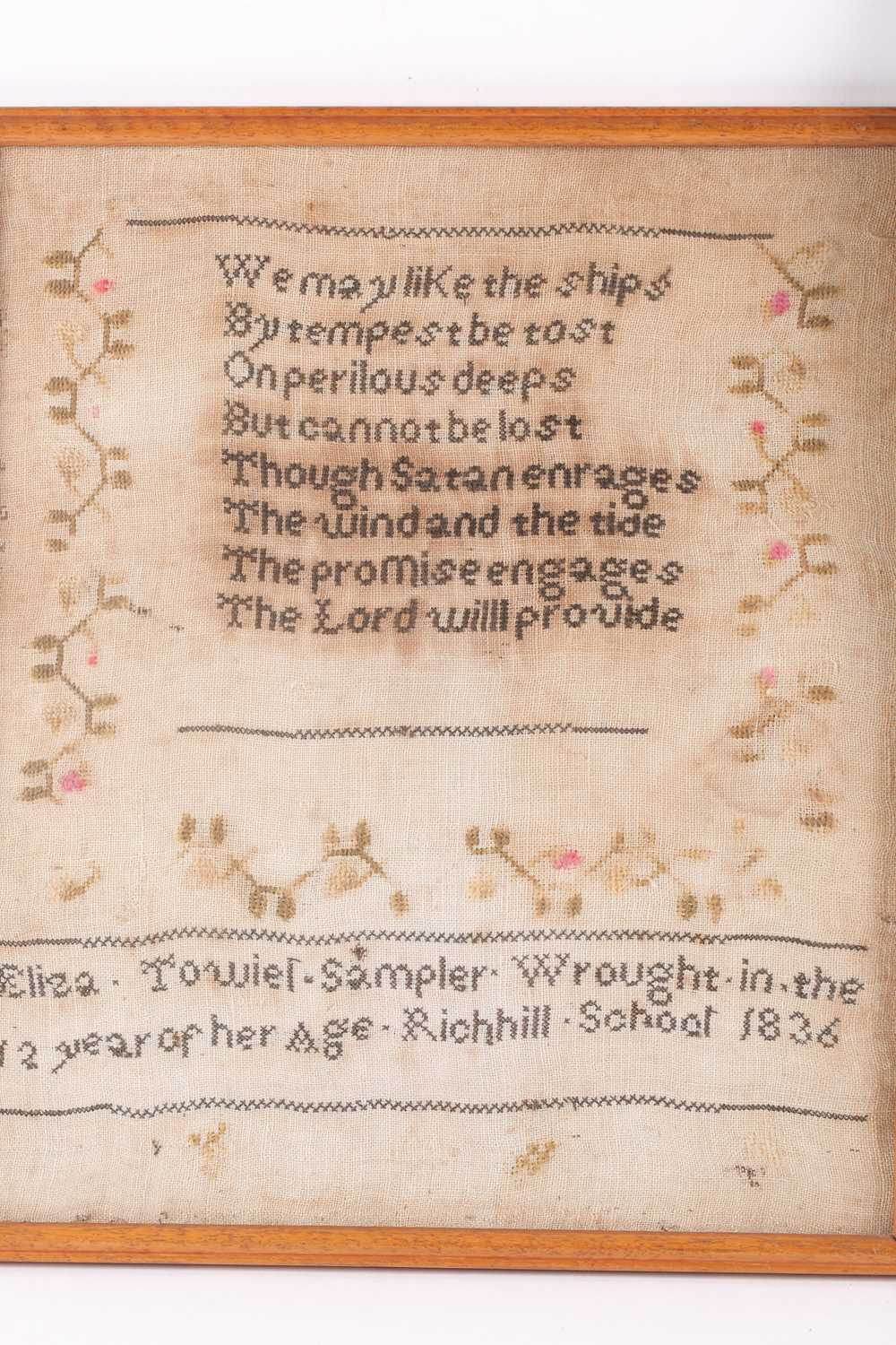 A William IV needlework sampler, with verse from John Newtons 'Olney Hymns ' We may like the ships - Image 5 of 6