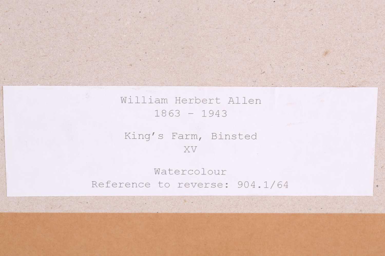 "William Herbert Allen (1863-1943), ""King's Farm, Binstead"" and ""Binstead"", watercolours, a pair, - Image 11 of 11"