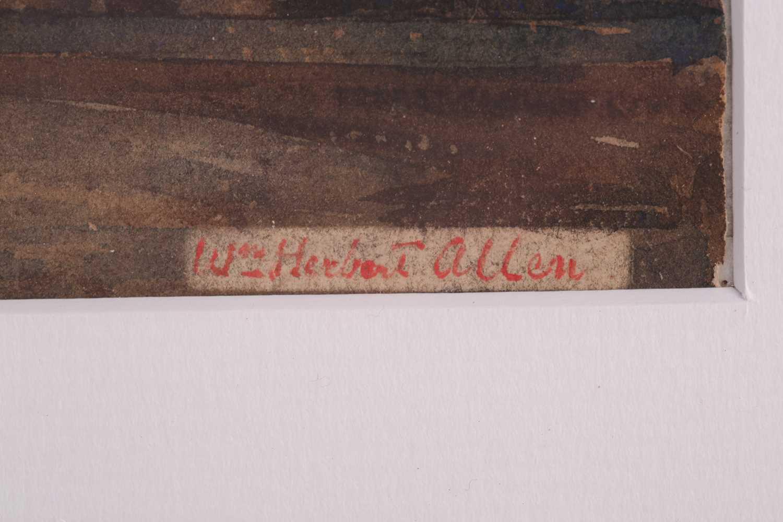 "William Herbert Allen (1863-1943), ""King's Farm, Binstead"" and ""Binstead"", watercolours, a pair, - Image 5 of 11"