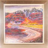 John Ryan (1925-1992), 'Liathach and Upper Torridon', impasto oil on canvas, signed to lower right