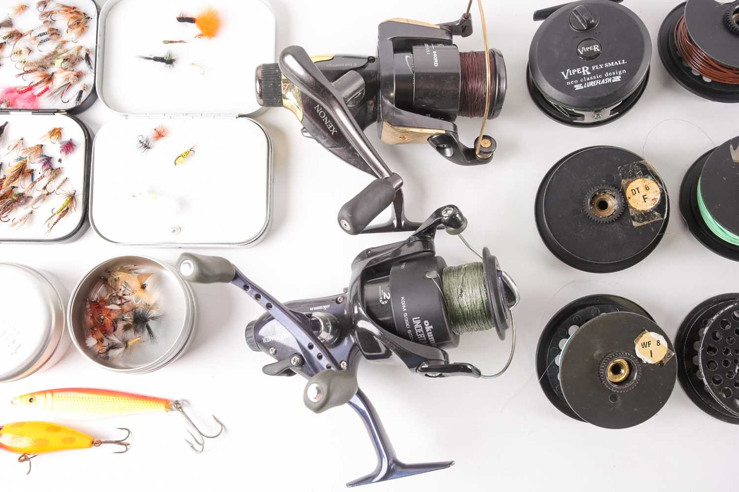 A collection of assorted fly (and other) fishing reels, to include 'The Flyweight' and 'LRH - Image 6 of 7