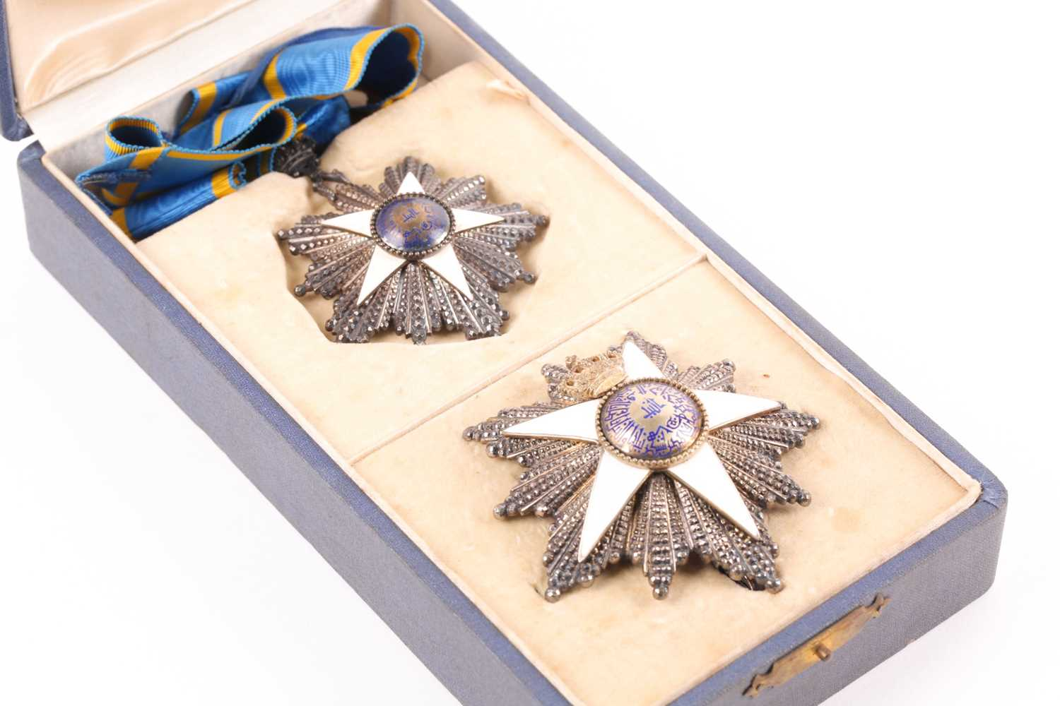 Order Of The Nile. A cased set to include a silver-gilt and enamel neck badge and matching breast - Image 3 of 5