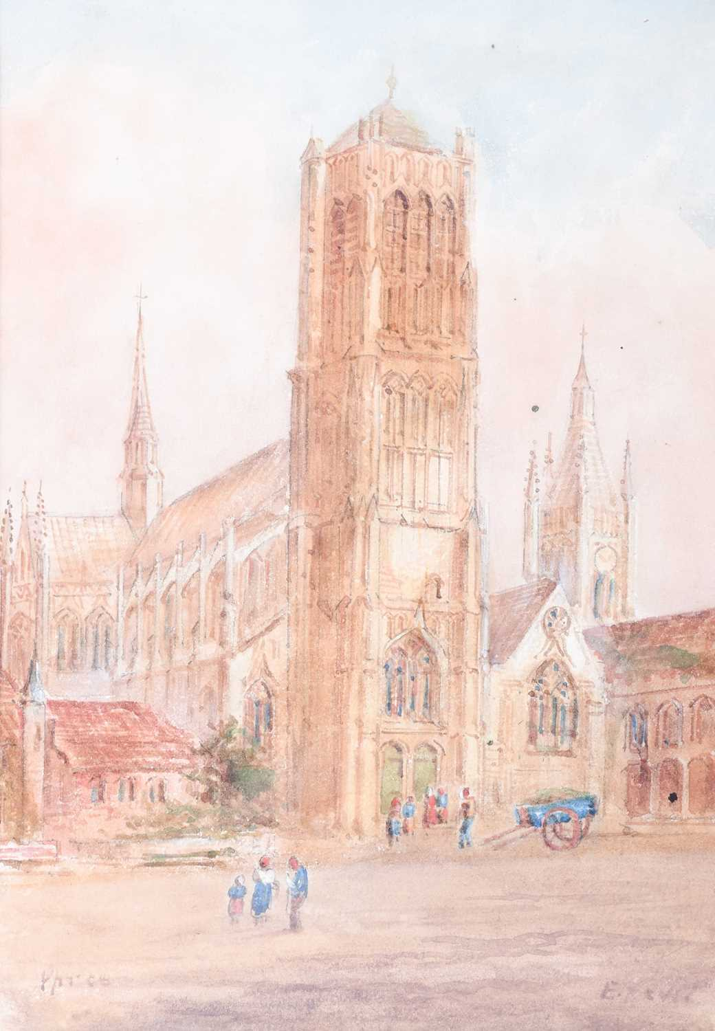 Edward Nevil (British, fl: 1880 - 1900) 'Ypres' & 'Malines', signed, watercolour, a pair, 27 x 19cm - Image 2 of 7