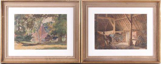 "William Herbert Allen (1863-1943), ""King's Farm, Binstead"" and ""Binstead"", watercolours, a pair,"