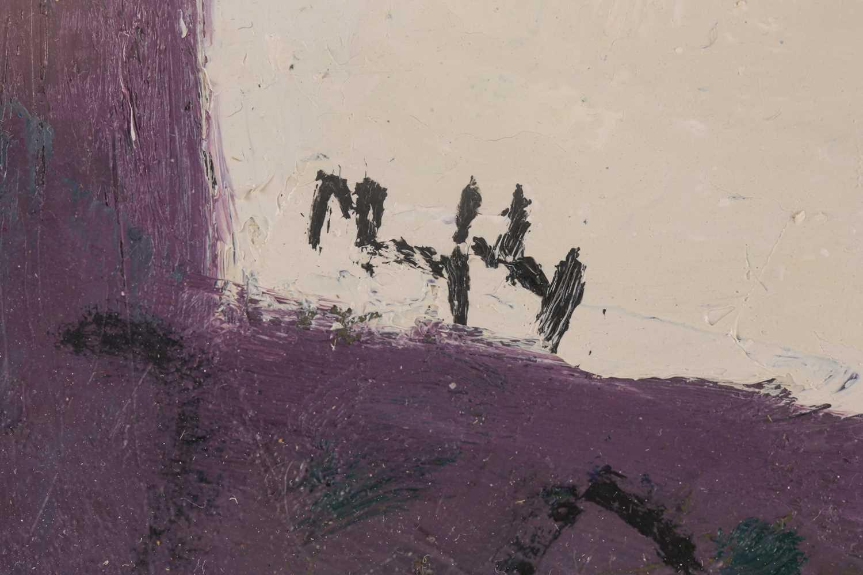 Sandy Murphy, (Scottish. B. 1956), Milk jug and Iris, oil on board, signed lower left, 38.5 cm x - Image 2 of 4