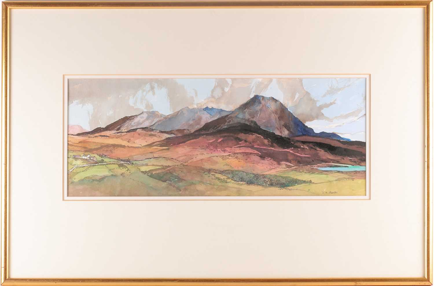 Tom Shanks, (Scottish. 1921-2020), Meall an Fhuarain Sutherland, watercolour and body colour, signed