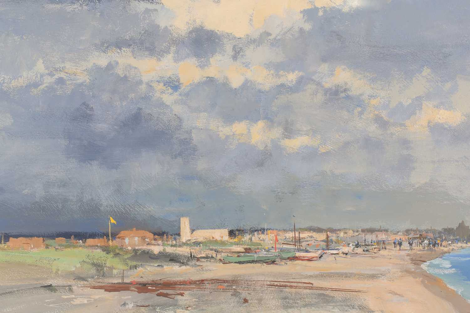 Ian Houston, (1934-2021), The Church by the shore, Pakefield, gouache on board, signed lower left, - Image 3 of 5