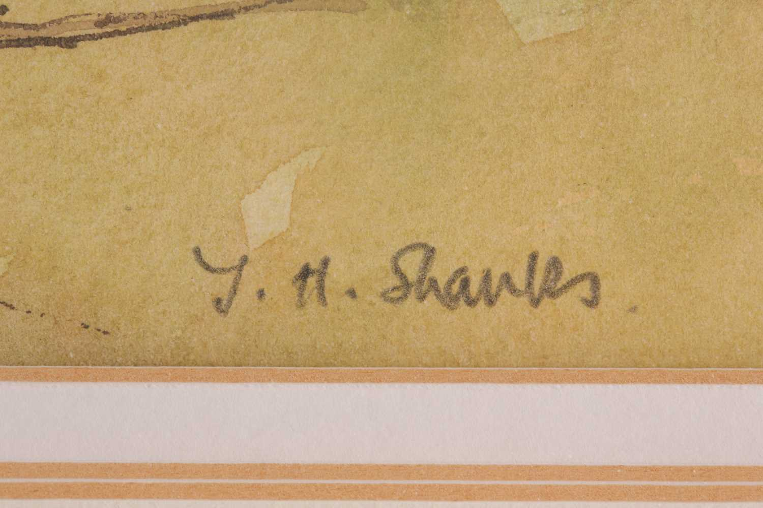 Tom Shanks, (Scottish. 1921-2020), Meall an Fhuarain Sutherland, watercolour and body colour, signed - Image 4 of 5