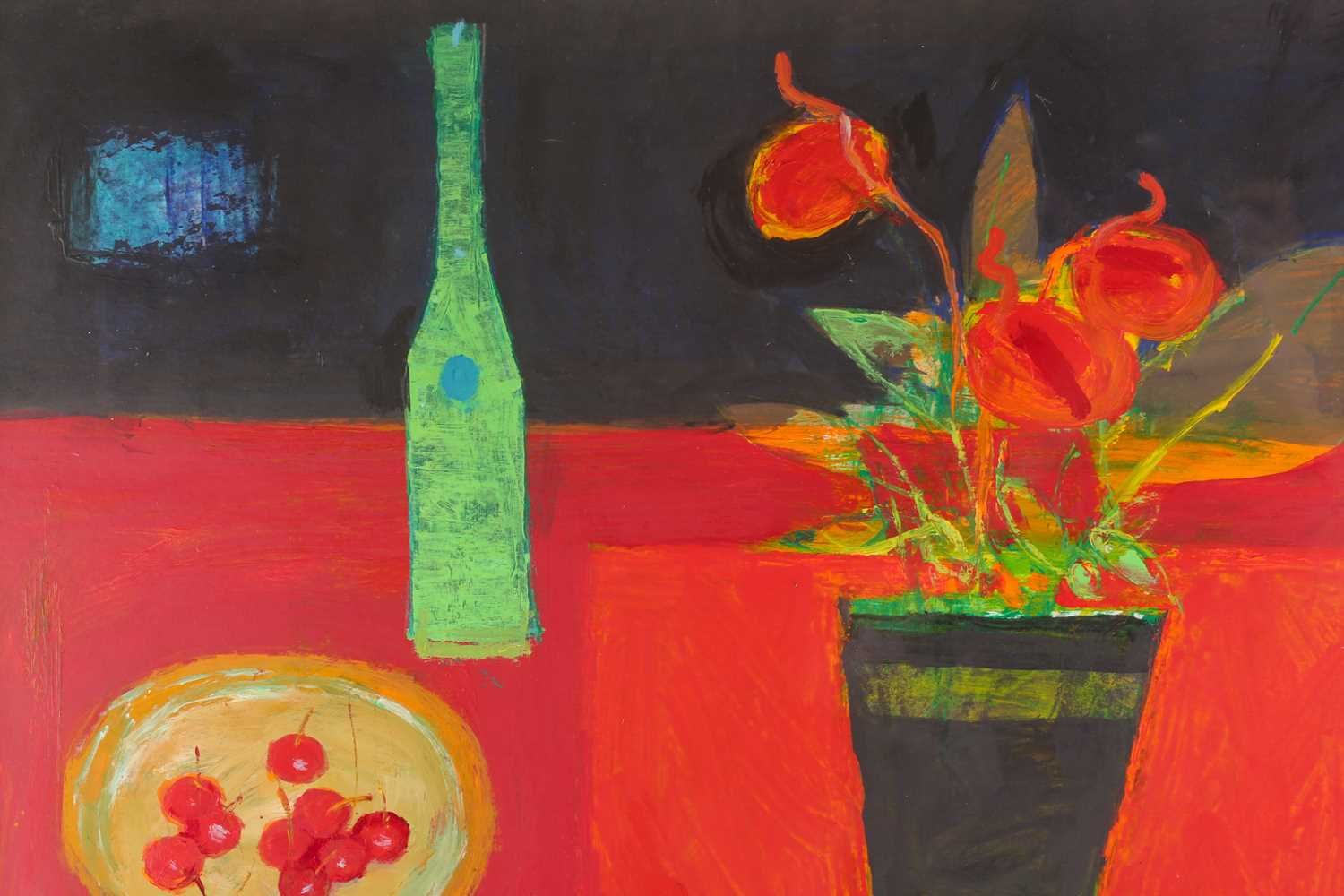 William Selby, (B. 1933), Green Bottle, acrylic on board, signed lower right, 64 cm x 74 cm. Ex - Image 2 of 4