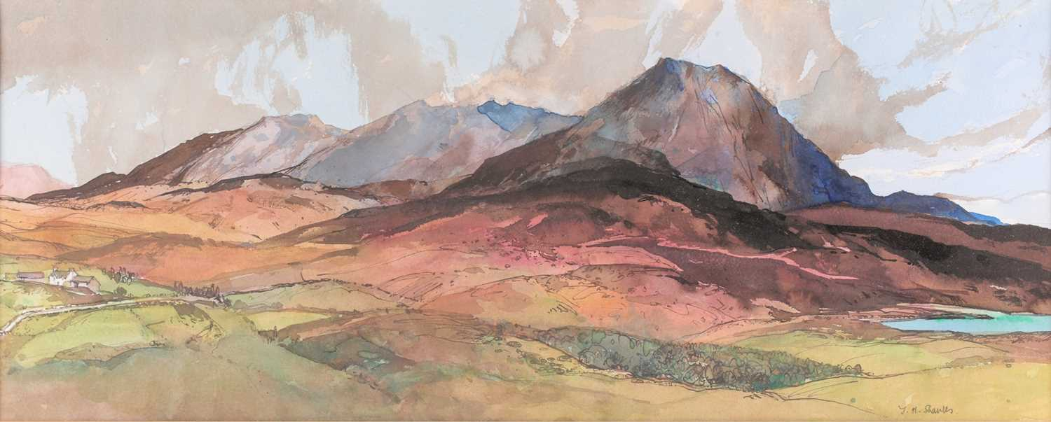 Tom Shanks, (Scottish. 1921-2020), Meall an Fhuarain Sutherland, watercolour and body colour, signed - Image 3 of 5