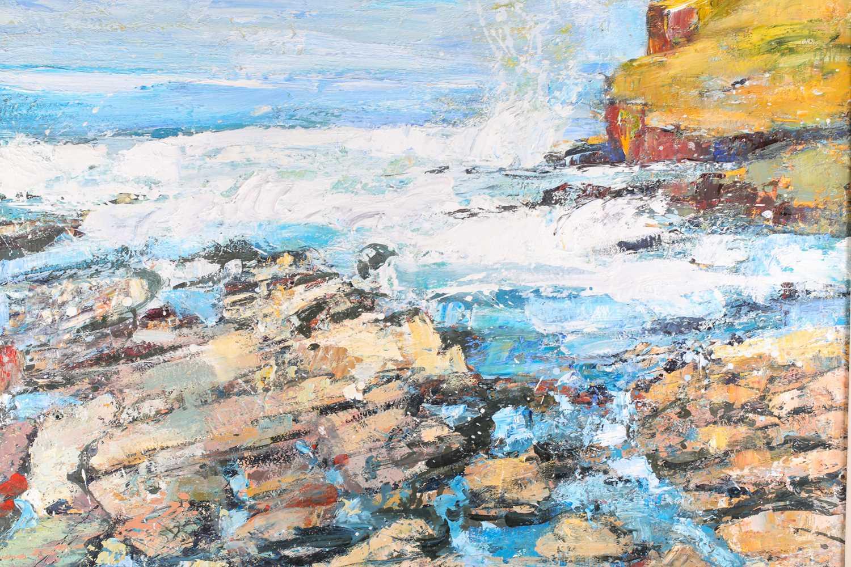 Peter McLaren, (B. 1964), Orkney, 1998, oil on board, 76 cm x 91 cm. Ex City Gallery - Image 2 of 4