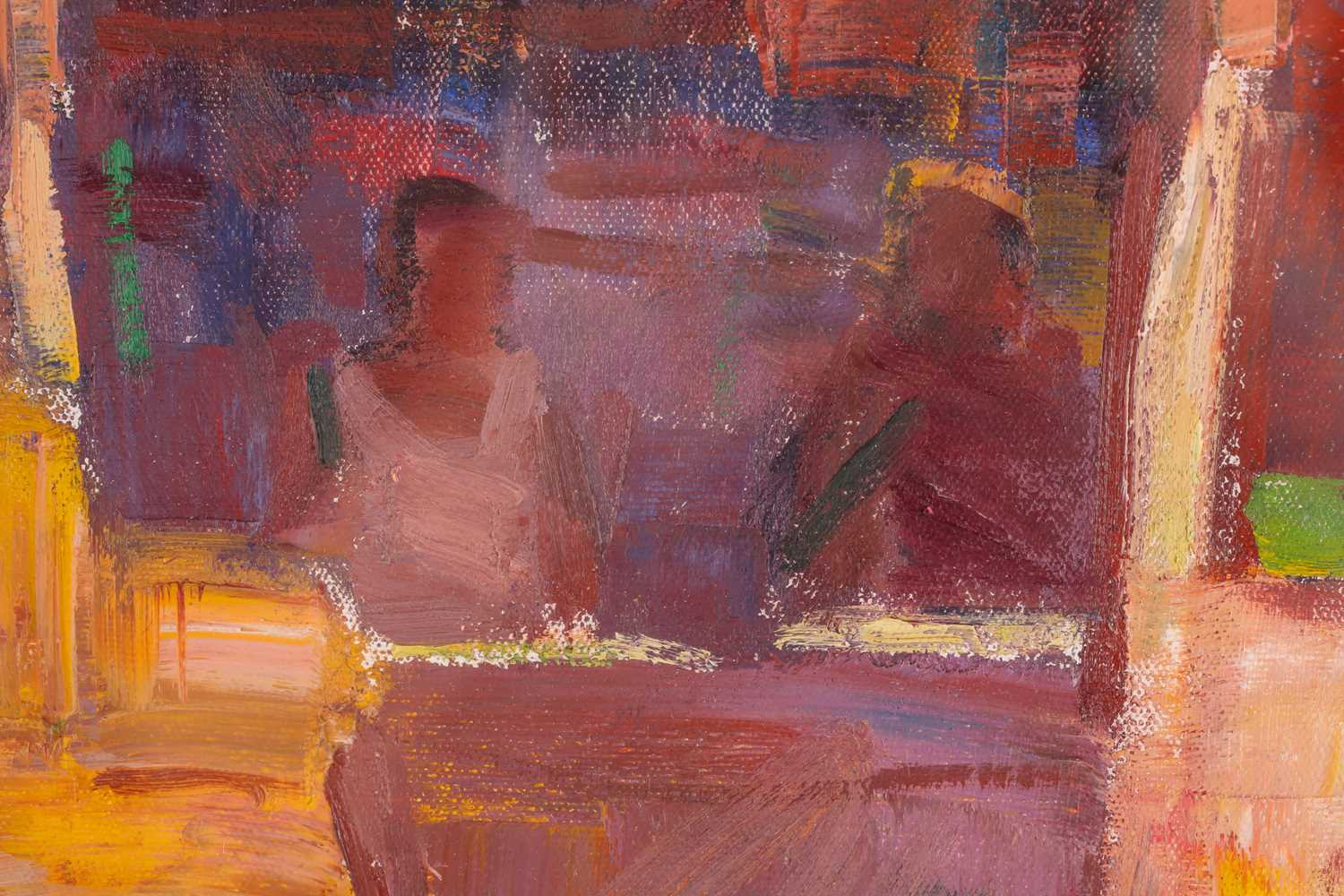 George Devlin R.S.W., R. S.I. (Scottish. B. 1937), Traders Bangalore, oil on canvas, signed lower - Image 4 of 5