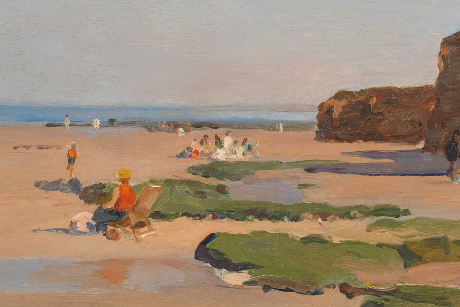 Robert-Henri Fouques (French 1892-1956), A day at the seaside, oil on canvas, signed lower right, - Image 3 of 4