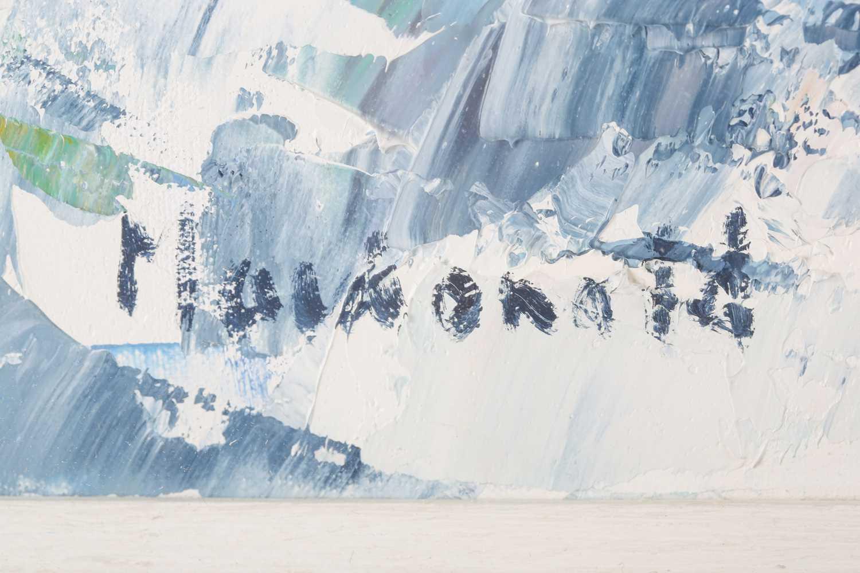 Frances Macdonald SSWA, RGI, (Scottish), White Strand of the Monks, oil on canvas, signed lower - Image 4 of 5