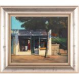 Joe McIntyre, (Scottish. B. 1940), Study of spring sunshine, Dundee, oil on canvas panel, signed