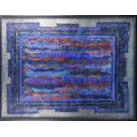 Katherine Virgil, Alchemy of Krishna, mixed media, label verso, 106 cm x 135 cm