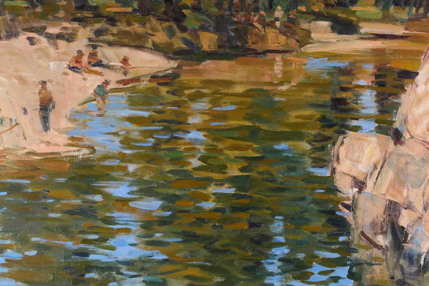 George Devlin, R.S.W., R. S.I. (Scottish. B. 1937) The Ceze, Pays du Gard, oil on canvas, signed - Image 5 of 5