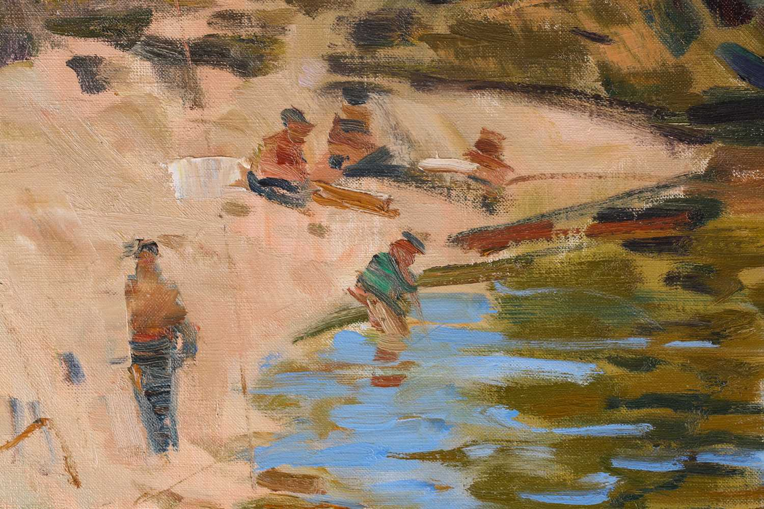 George Devlin, R.S.W., R. S.I. (Scottish. B. 1937) The Ceze, Pays du Gard, oil on canvas, signed - Image 4 of 5