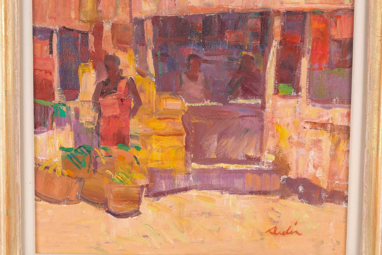 George Devlin R.S.W., R. S.I. (Scottish. B. 1937), Traders Bangalore, oil on canvas, signed lower - Image 5 of 5