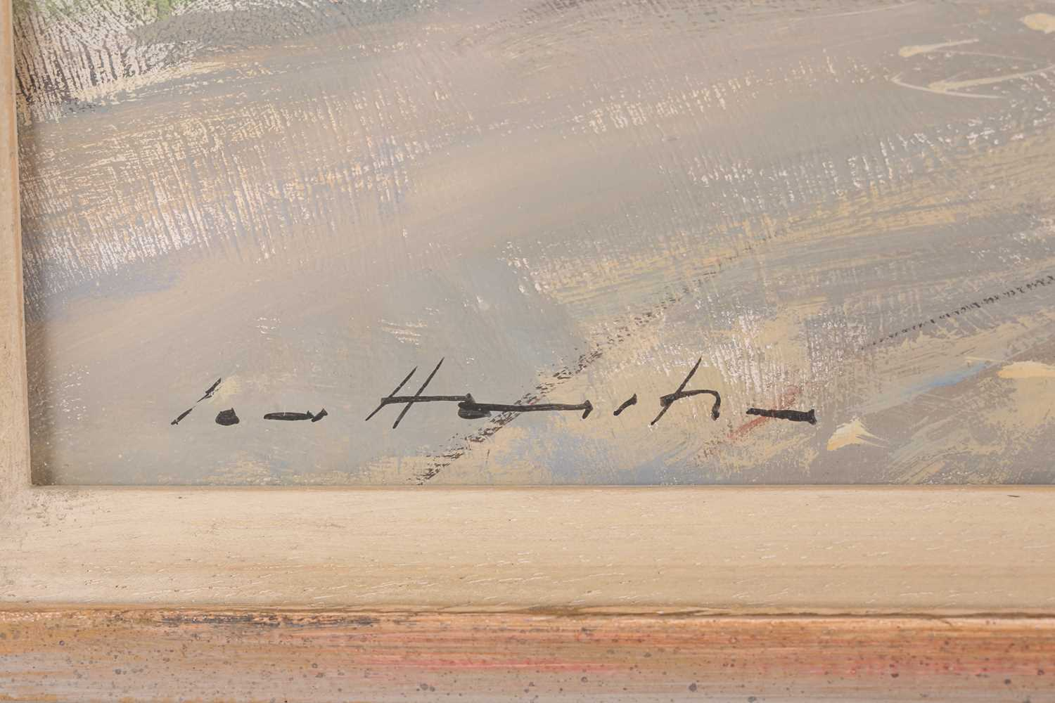 Ian Houston, (1934-2021), The Church by the shore, Pakefield, gouache on board, signed lower left, - Image 2 of 5