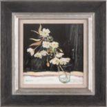 Robert Kelsey DA, MUniv, PAI, FRSA (B. 1949), Cherry Blossom, oil on canvas, signed lower left, 30